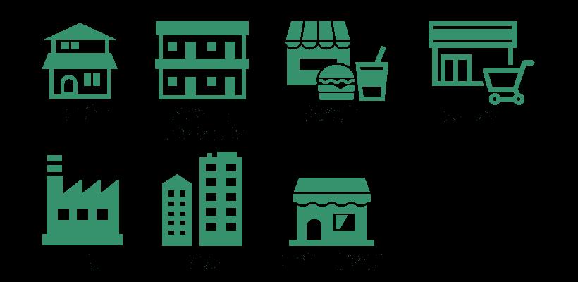 千葉県のネズミ駆除の対応可能な建物(一戸建て、アパート・マンション、飲食店、スーパー、工場、ビル、店舗・事務所)