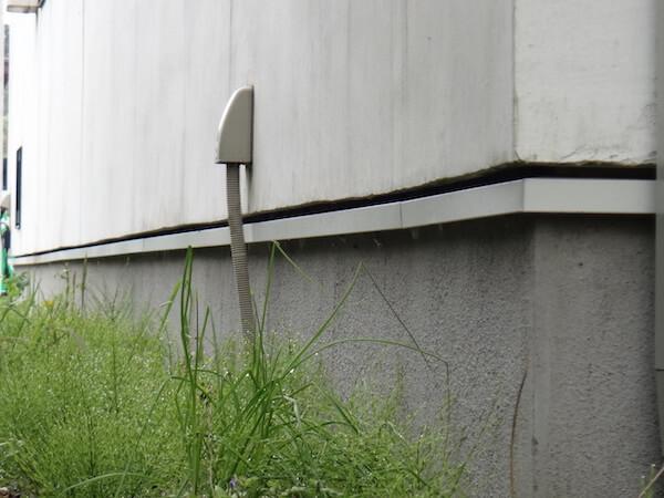 建物外周のネズミ侵入口