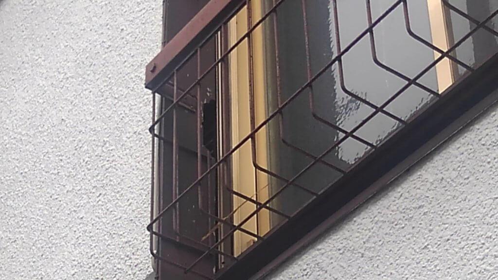 ネズミ侵入口の雨戸袋