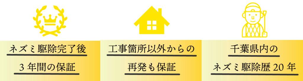 千葉県ネズミ駆除後3年間の保証 千葉県内のネズミ駆除歴20年 工事箇所以外らの再発も保証